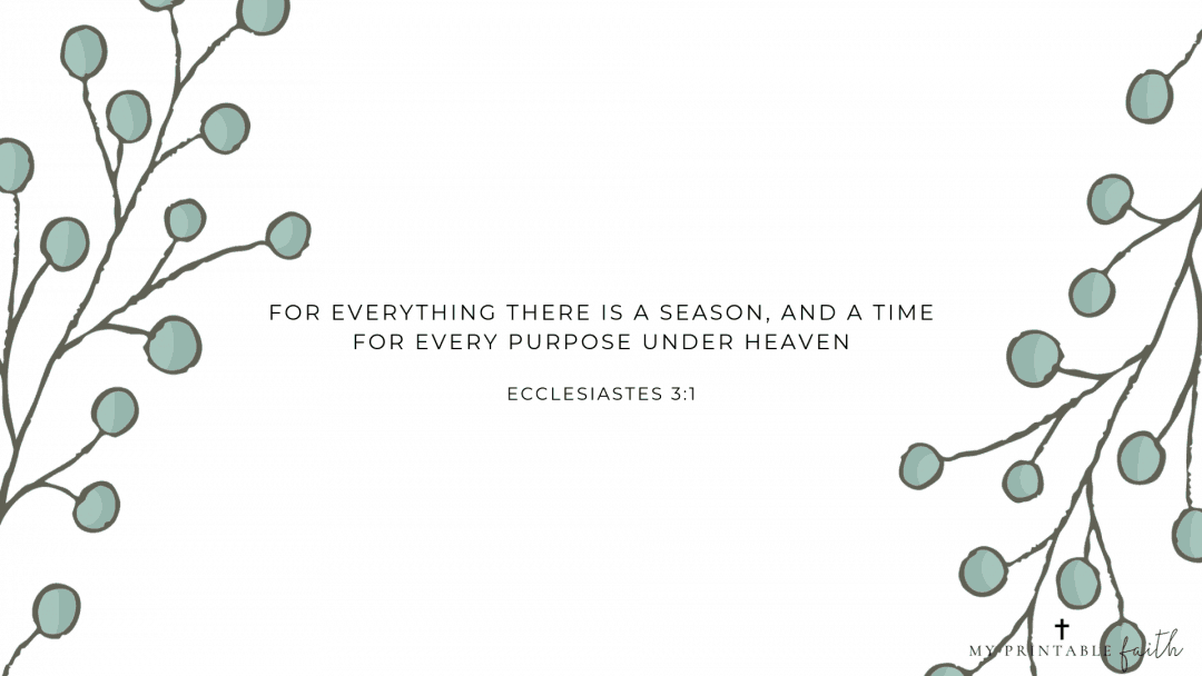 Ecclesiastes 3:1 - FREE Desktop Wallpaper - My Printable Faith