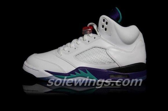 Air Jordan 5 Retro Grape 2013 Detailed Pictures