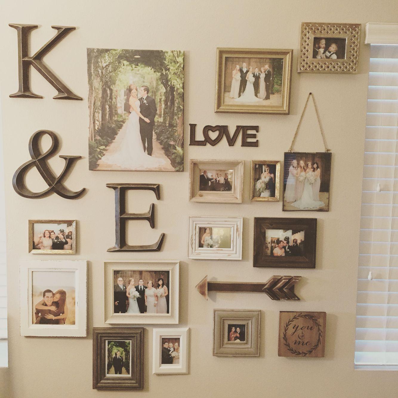 My Gallery Wall Of Wedding Photos Wedding Photo Walls Decor