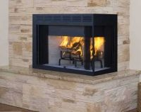 Corner Two Sided Wood Burning Fireplace Superior Fireplaces 36