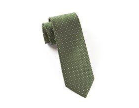 Ties - Wacker Drive Checks - Dark Clover Green