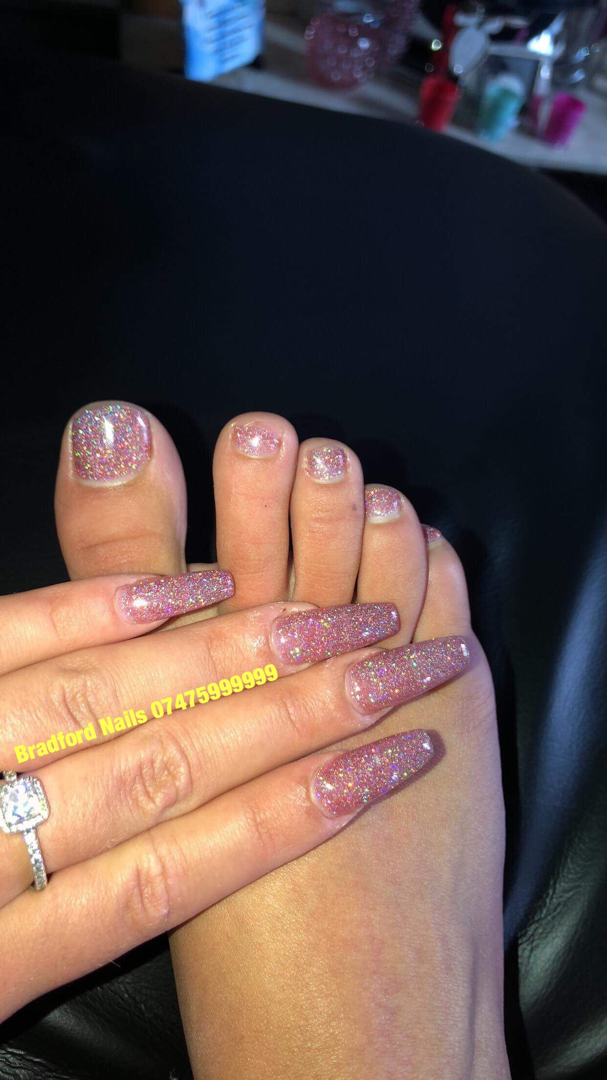 New Glitter Gel Polish Client Sent Me Photo Thank You Bradford Nails Salon We Locate In Br Glitter Gel Polish Nail Services High Quality Nails