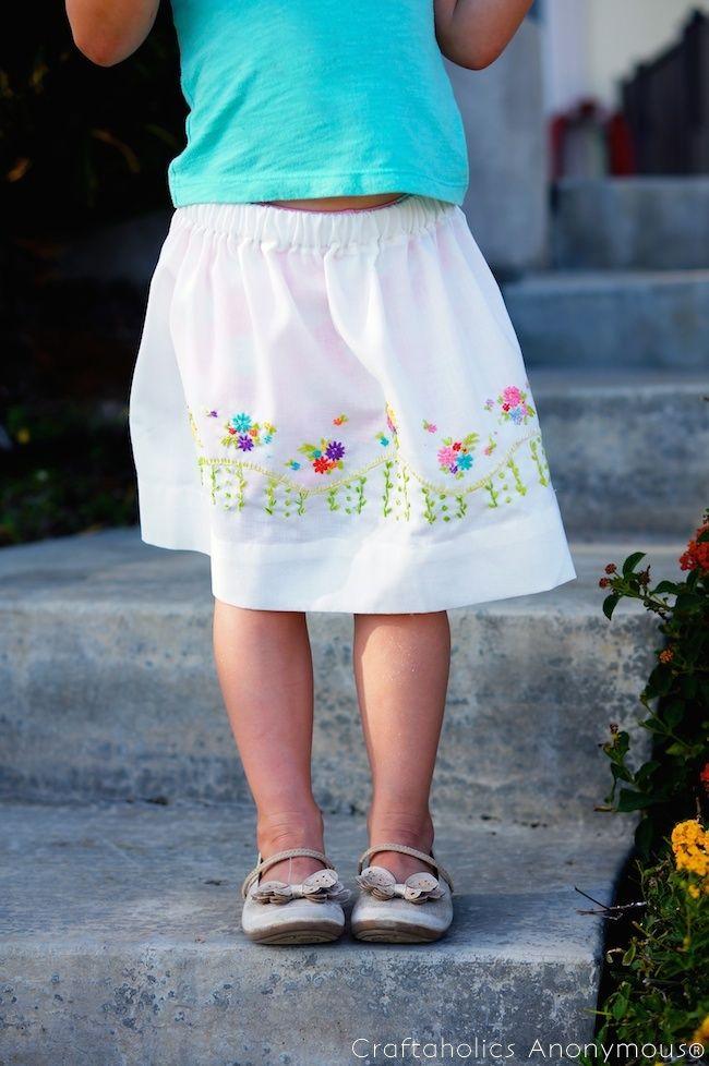 Vintage Pillowcase Skirt tutorial | Pinterest | Nähen
