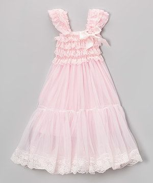 This Pink Lace Babydoll Dress - Infant, Toddler & Girls by Royal Gem is perfect! #zulilyfinds