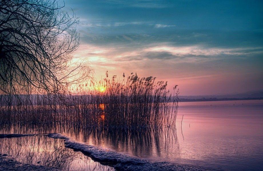 Lake At Sunset 4k Ultra Hd Wallpaper 4k Wallpaper Net Sunset Landscape Sunset Wallpaper Landscape Wallpaper
