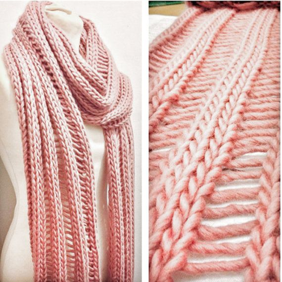 Beginners Drop Stitch Scarf Knitting Kit Learn To Knit Diy Craft