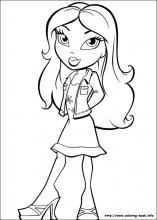 bratz coloring pages on coloring bookinfo