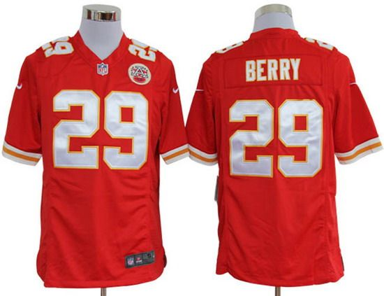 Nike Chiefs  29 Eric Berry Red Team Color Mens NFL Game Jersey  d97d35dc7