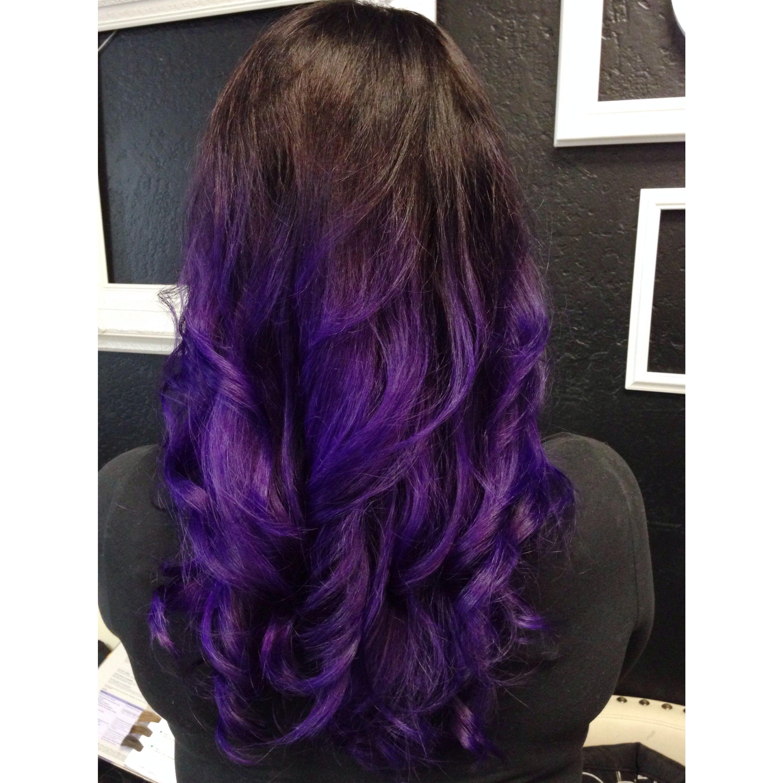 Dark Purple Hair Dye Fade