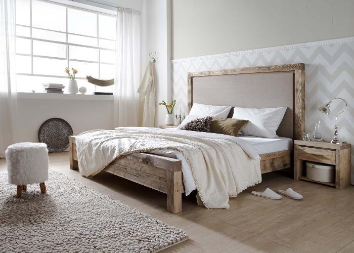 Massivholzbett Annecy im Vintage Landhausstil Machen Sie Ihr - schlafzimmer holz massiv