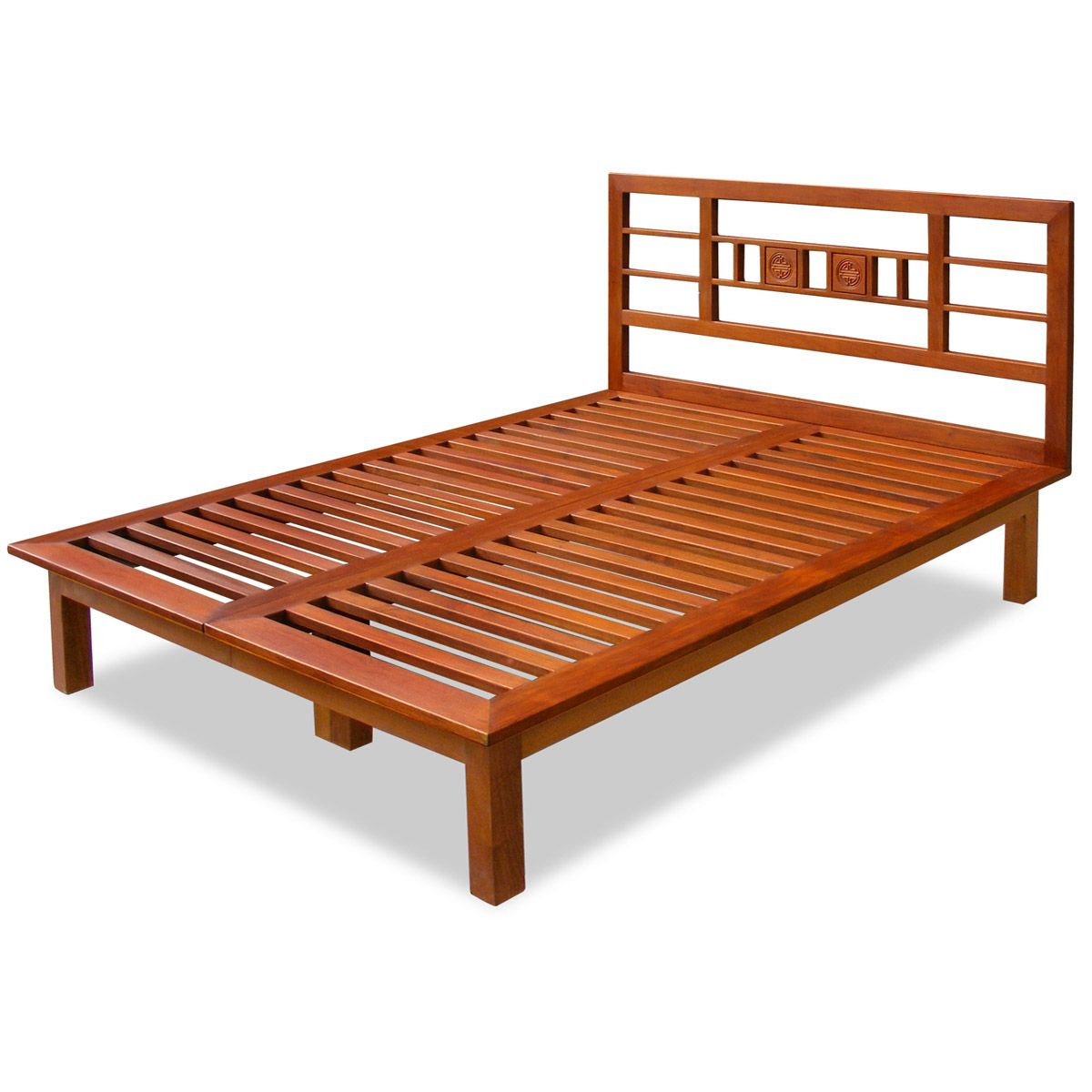 Rosewood Tai Ji Queen Bed Influenced by Japanese Tatami