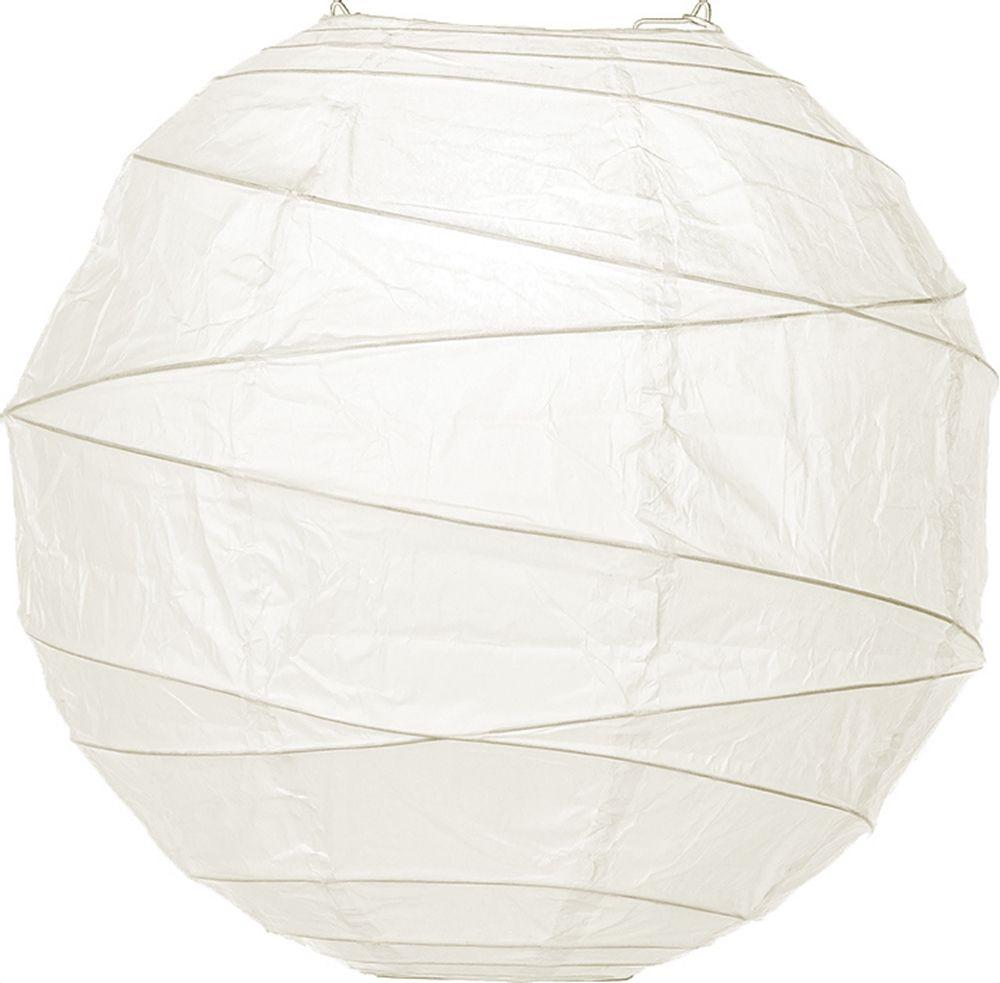 Wedding White 8 Inch Round Premium Paper Lantern (free-style ribbing ...
