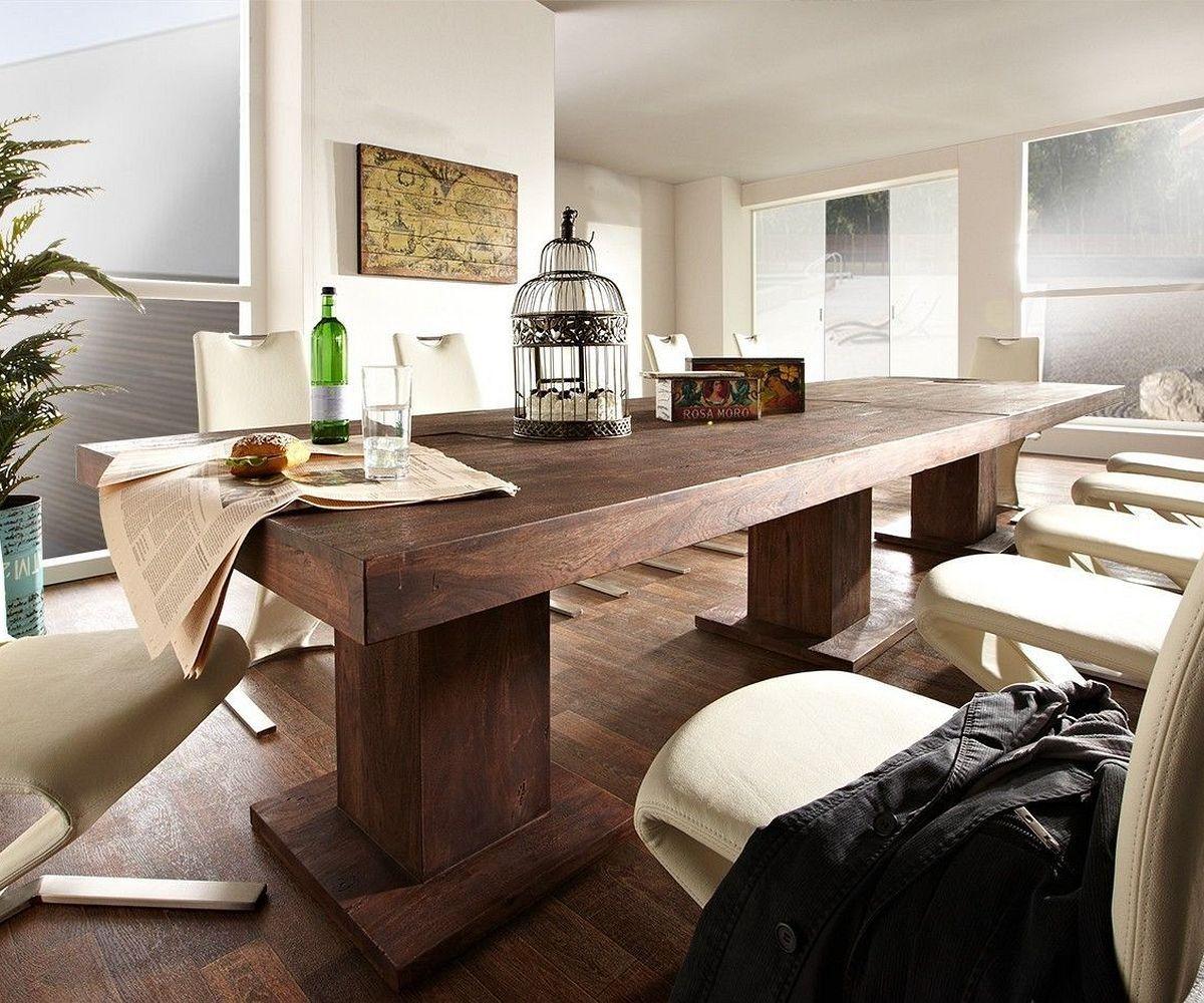 esstisch guru 300x120 cm akazie tabak by wolf m bel landhaus ist wie kuscheln im herbst. Black Bedroom Furniture Sets. Home Design Ideas