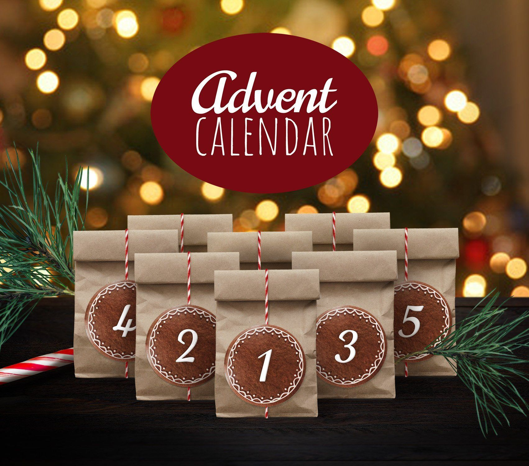 1 20 Christmas Gingerbread Cookie Advent Calendar