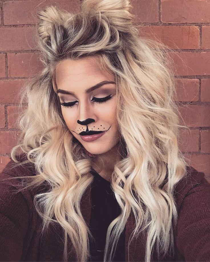 Lioness Makeup For Halloween Beautyblog Makeupoftheday Makeupbyme Makeuplife Makeuptutorial Karneval Schminken Fasching Frisur Frisur Lange Haare Locken