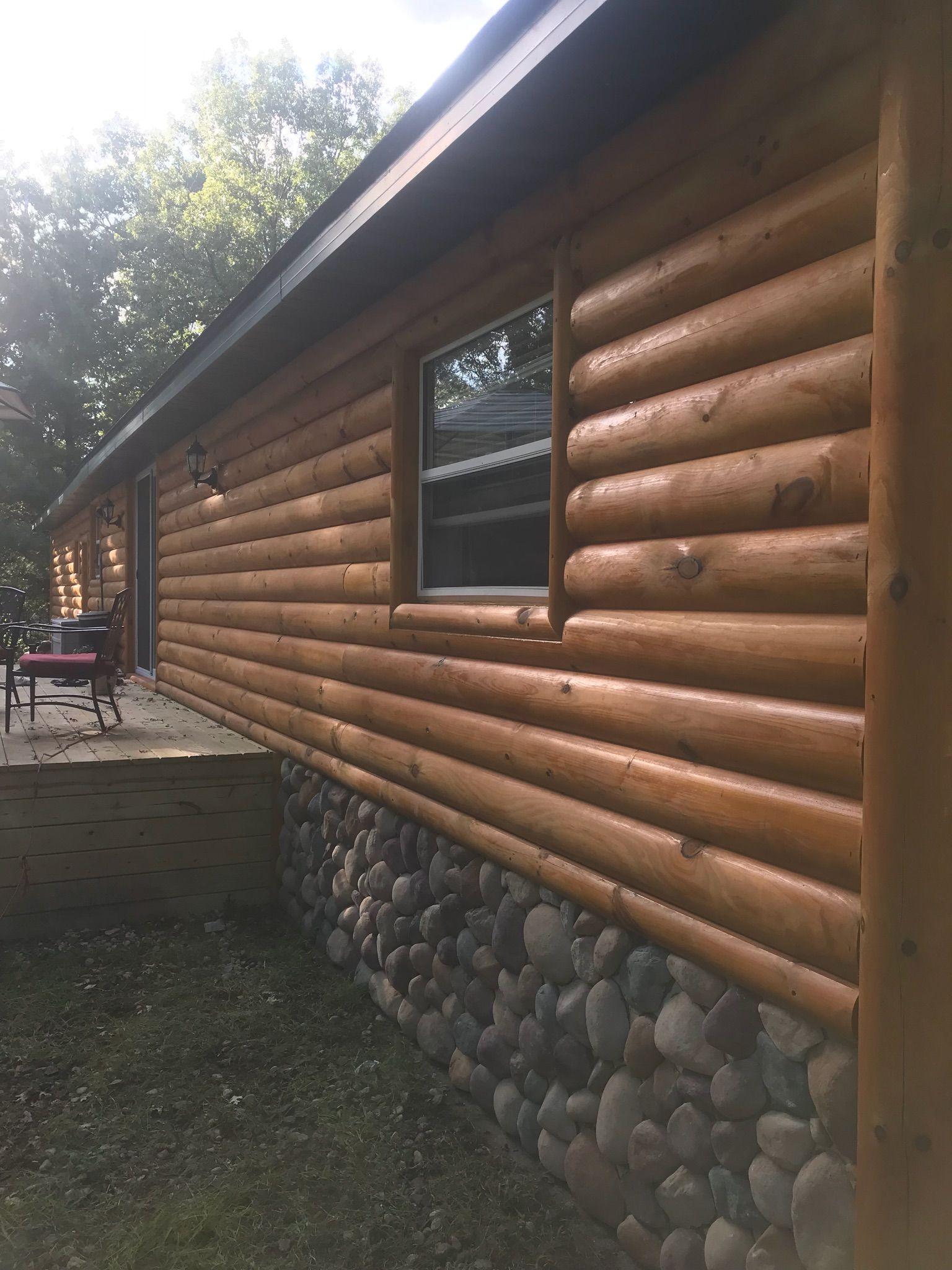 Log Siding For Mobile Homes Google Search Log Cabin Homes Log Siding Cabin Homes