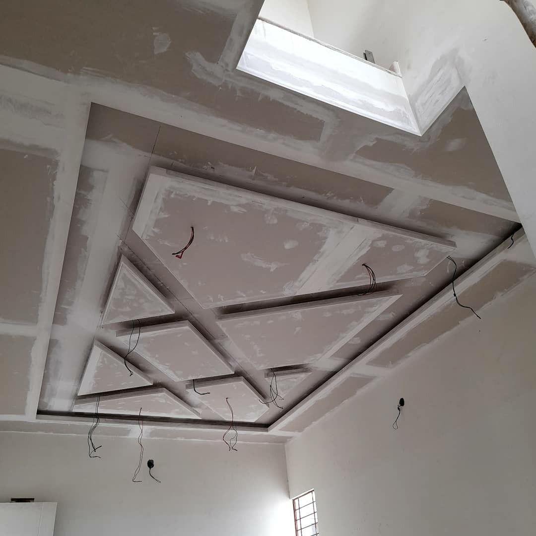 False Ceiling In The Living Room Random Lines House Ceiling Design Gypsum Ceiling Design Bedroom False Ceiling Design