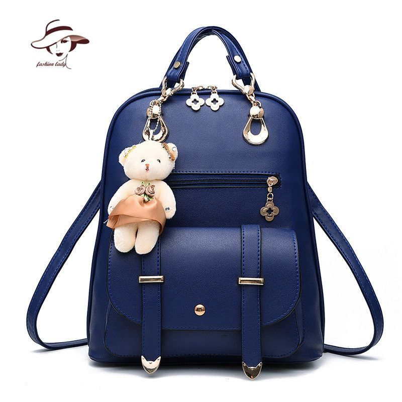 New Fashion Women Backpacks Women s PU Leather Backpacks Girl School Bag  Ladies Bags Designer Women Backpack High Quality Bolsas 7c26725311399