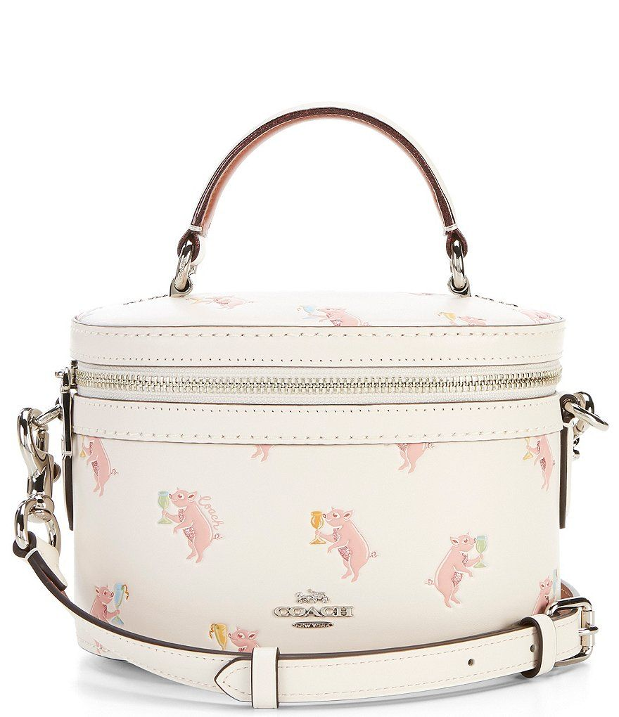 3201ed2e9a Coach Party Pig Print Trail Cross-Body Bag Pig
