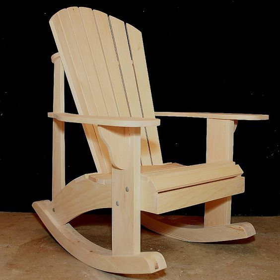 Adirondack Rocking Chair Retrofit Kit Plans For The Grandpa Etsy