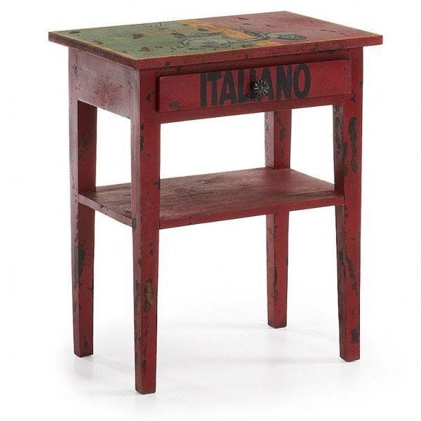 mesita de noche o auxiliar en madera decorada mitima | Muebles y ...