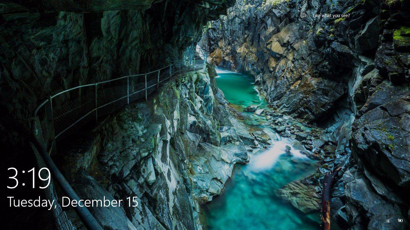 Gorge Walk Unknown Location From Windows 10 Spotlight Lock