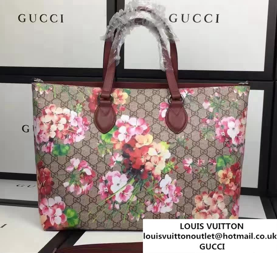 5e43087a8f116a Gucci Soft GG Supreme Tote Bag 453705 Red Blooms 2016 | Gucci | Bags ...