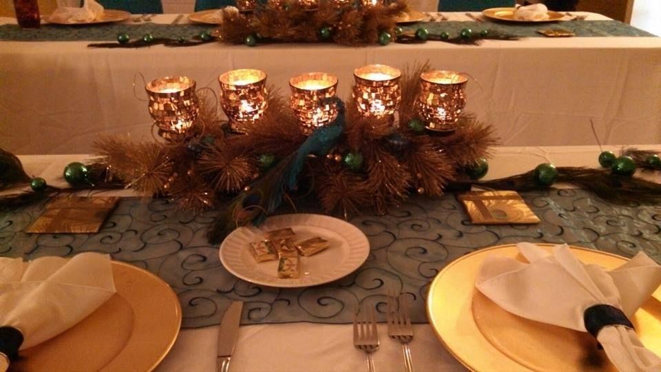 Christmas party - peacock theme