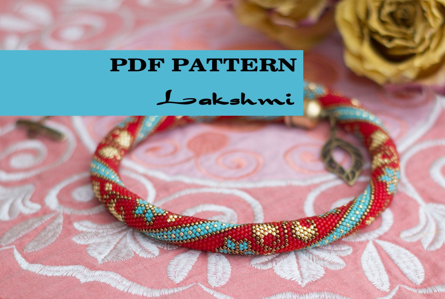 PDF Pattern for beaded crochet necklace - Seed bead crochet rope ...