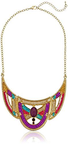 "Casted Seed Bead and Cut Bead Statement Necklace, 16"" Amazon Collection http://www.amazon.com/dp/B00H8OAJKW/ref=cm_sw_r_pi_dp_IKRPvb1P2HEJV"