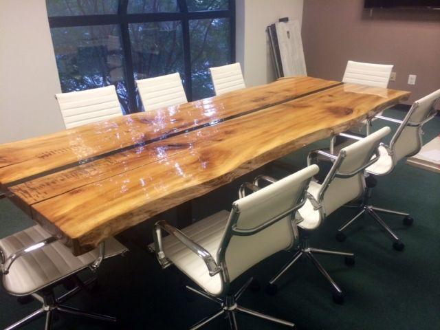 Custom Made 10' Live Edge Conference Table