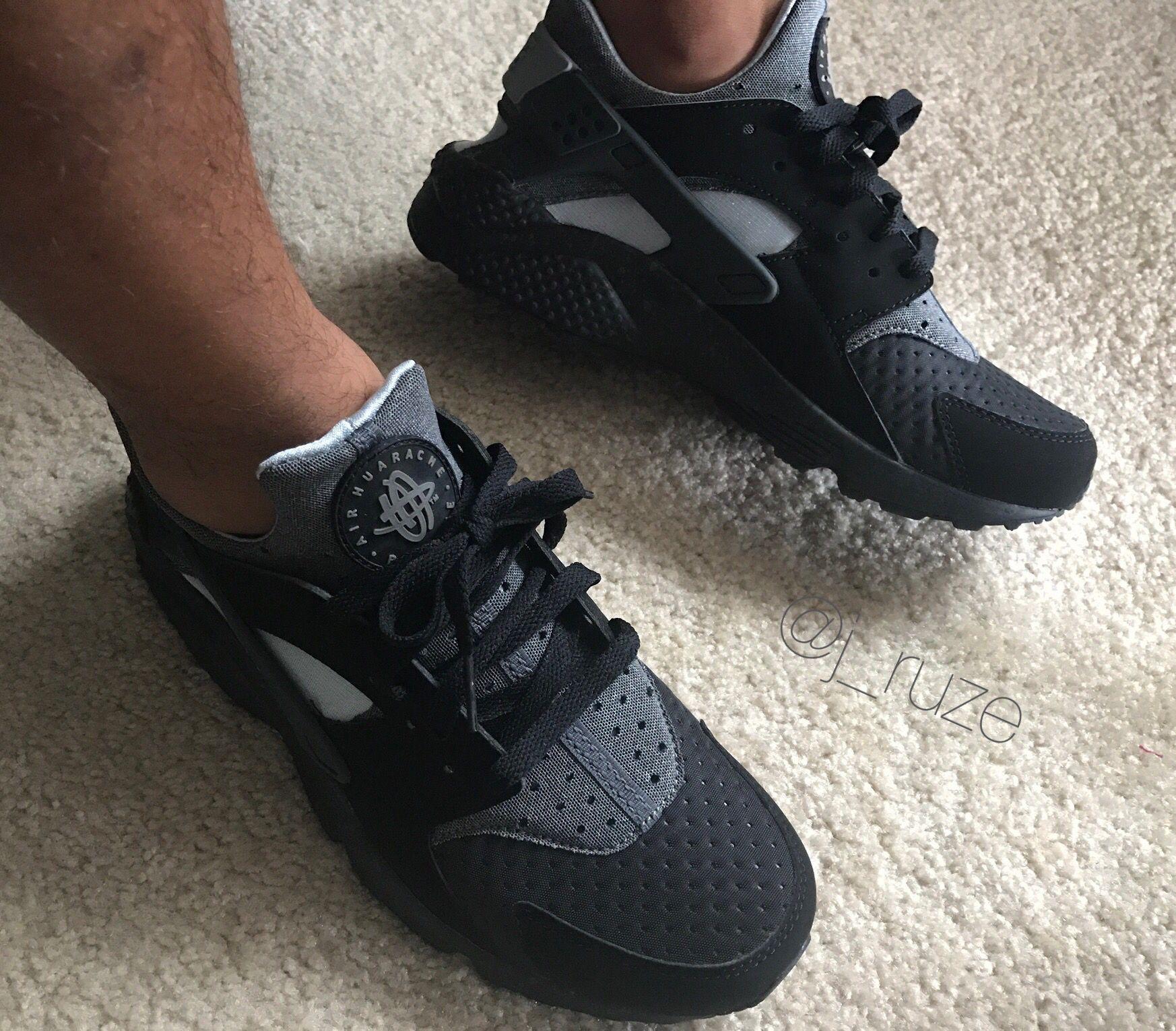 purchase cheap 91ae9 2e67e Nike Air Huarache black   wolf grey   anthracite on feet fall 2016