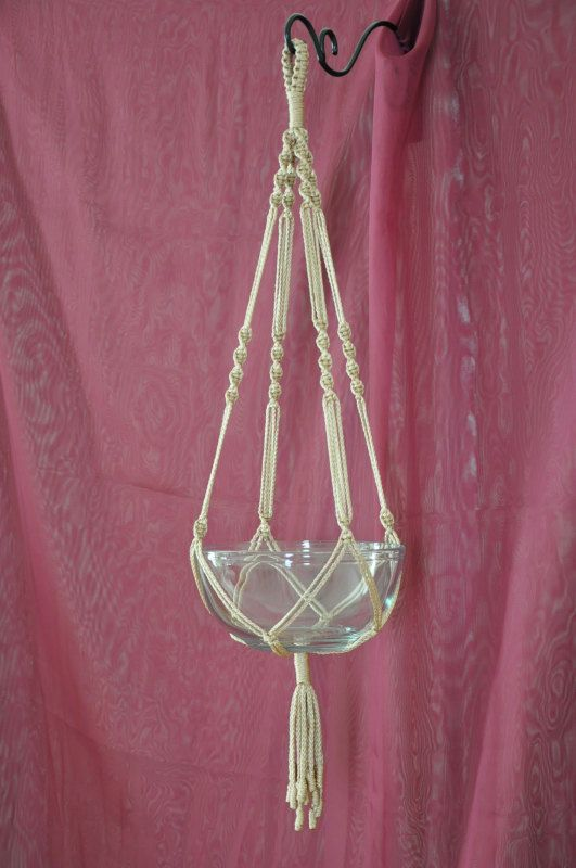 Hand Crafted Macrame Plant Hanger Pecan by macramemarket on Etsy, $11.99