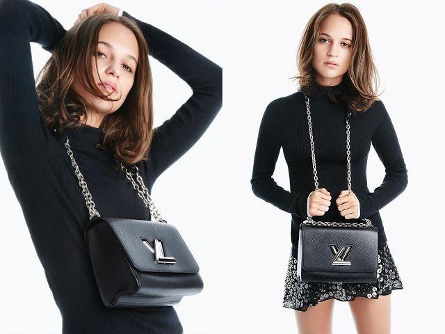 "God Save the Queen and all: Alicia Vikander x Louis Vuitton ""Twist Handbag"" #aliciavikander #louisvuitton #handbag"
