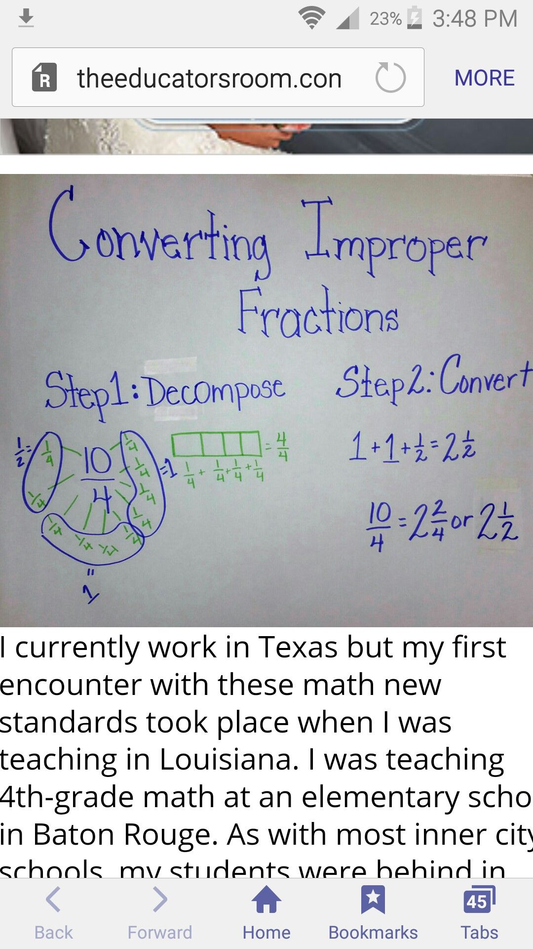 Decomposing Fractions Converting Improper Fractions To