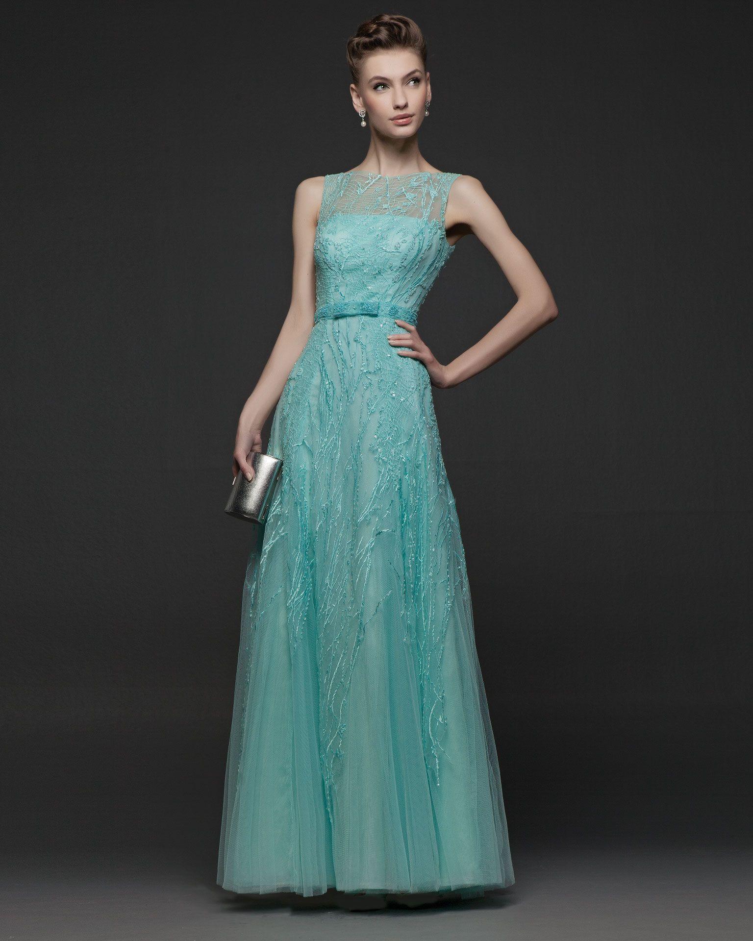 Vestido de raso de seda. Disponible en Marino, Rosa Palo, Amatista ...