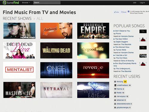 Tunefind, trouver la musique des films et séries télé