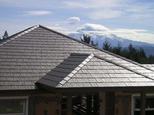 Pin By Lauren Kinne On Home Creations Metal Shingle Roof Solar Roof Metal Roof