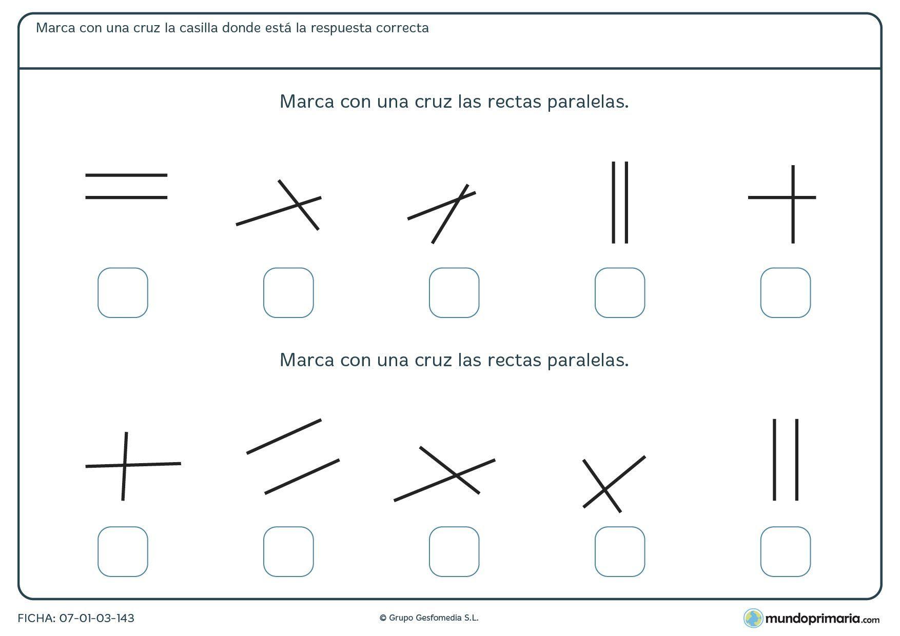 Fichas Para Imprimir Para Ninos De Primaria Actividades De Geometria Paralelas Y Perpendiculares Actividades De Matematicas