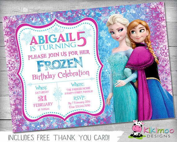 ▷ fiesta de cumpleaños frozen ⇒ +100 ideas originales, Birthday invitations