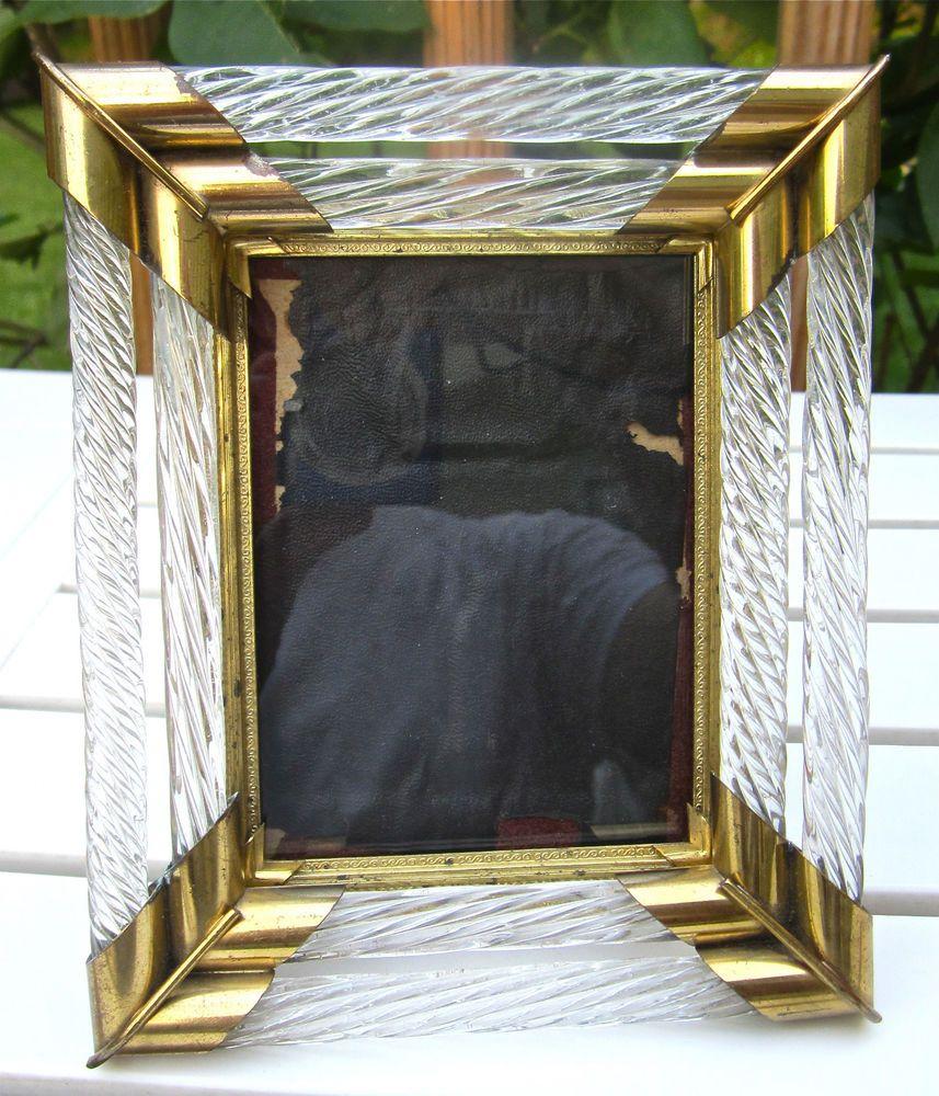 Old Italian Art Deco Glass Murano Venini Twist Rope Filigree Picture ...