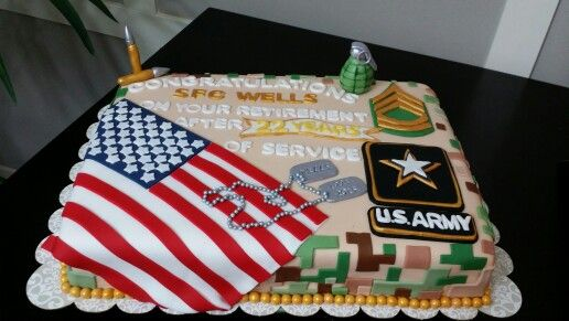 Us Army Military Retirement Cake Army Retirement