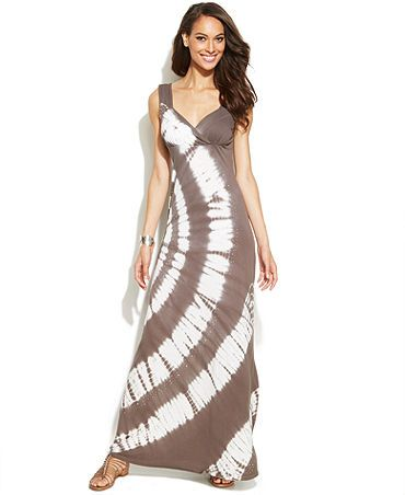 65fe628b075 INC International Concepts Tie-Dye Empire-Waist Maxi Dress - Macy s ...
