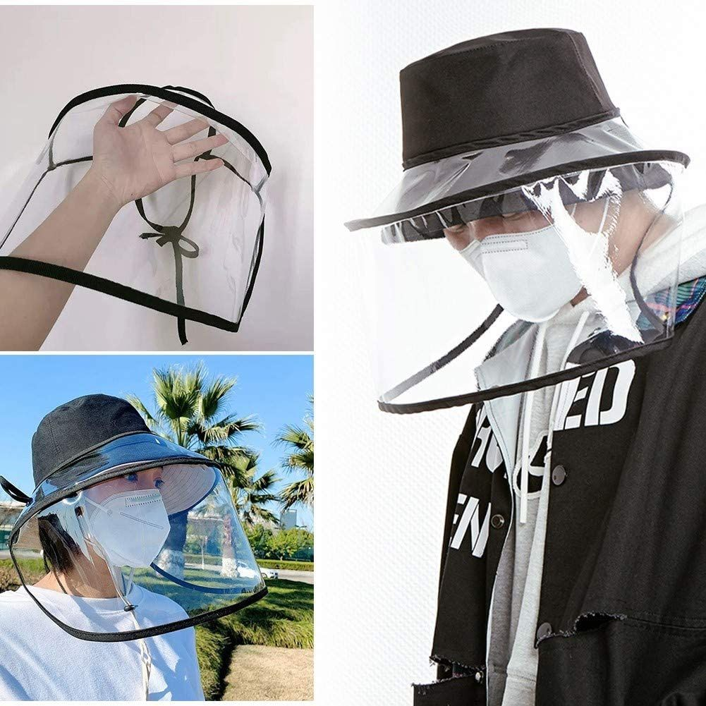 Adjustable Protective Full Face Cover Universal For Any Hat Anti Droplet Dust Proof Face Shield Visor Amazon Ca Home Kitchen Face Cover Visor Shield