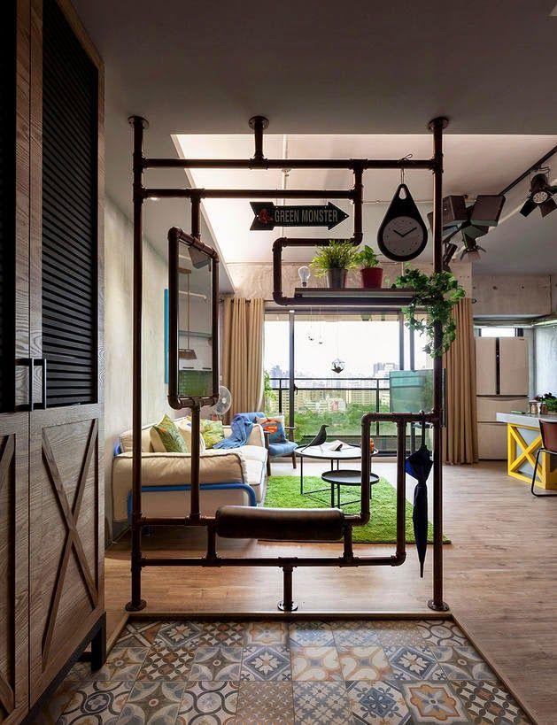 Virlova interiorismo home ecl ctico y c modo interior para una familia joven separar - Biombos casa home ...