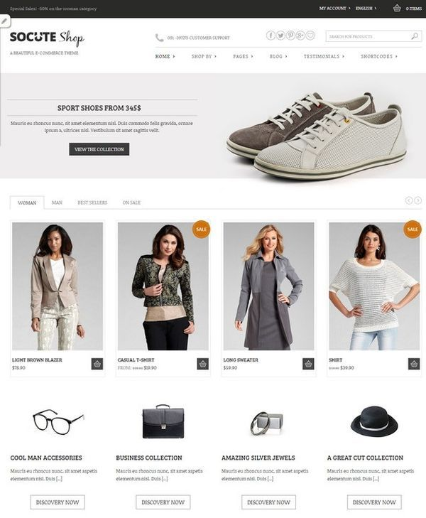 Socute-Free E-Commerce Theme | Web Design Freebies