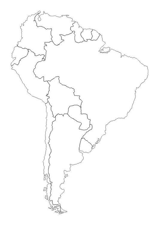 Coloring Page South America Free Printable Coloring Pages South America Map South America Coloring Pages