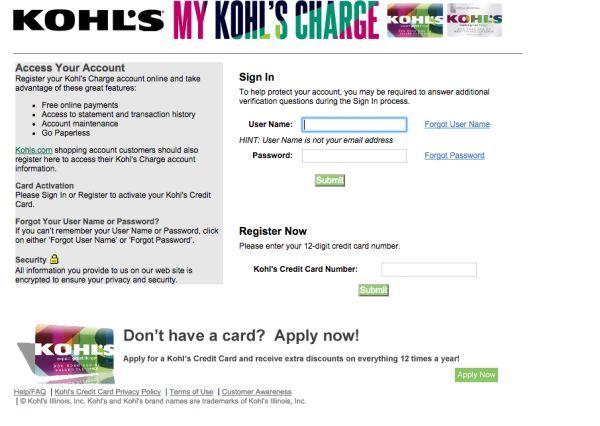 Www Mykohlscharge Com Get Your My Kohls Charge Card Registered