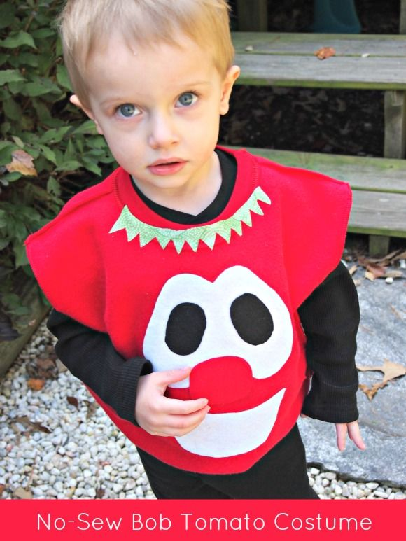 1b60db67 No-Sew Bob Tomato VeggieTales Costume Tutorial... Could make this for the  dramatic play area