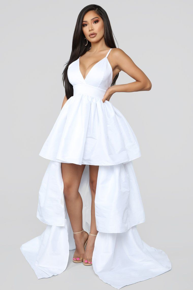 6069774f97 V.I.Please High Low Gown - White in 2019